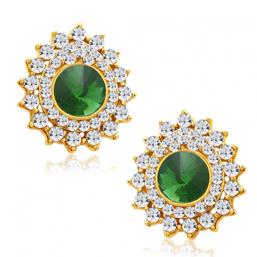 Buy Sukkhi Ritzy Gold Plated AD Earring For Women Online