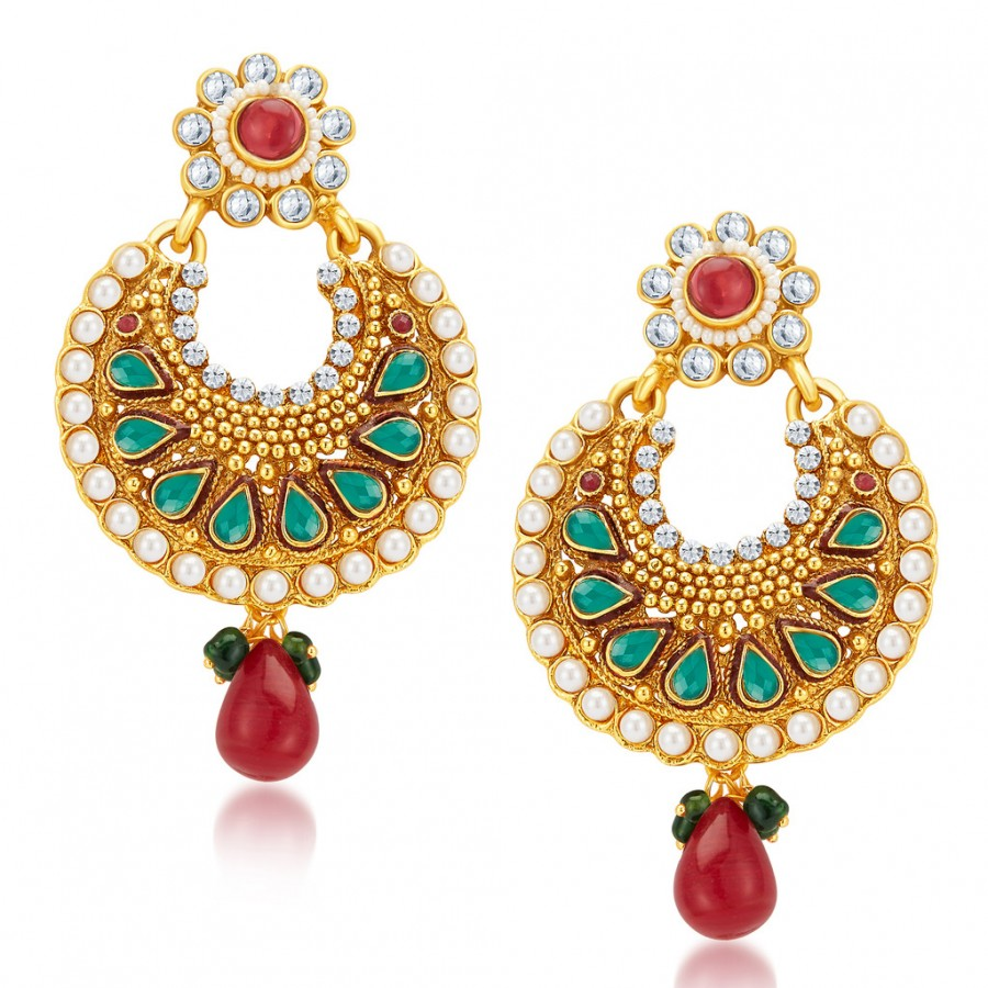 Buy Sukkhi Marvellous Gold Plated Earrings Online