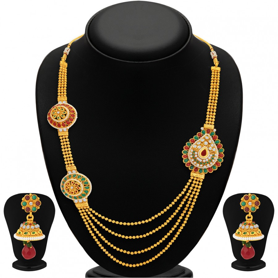 Buy Sukkhi Attractive Gold Plated Necklace Set For Women Online
