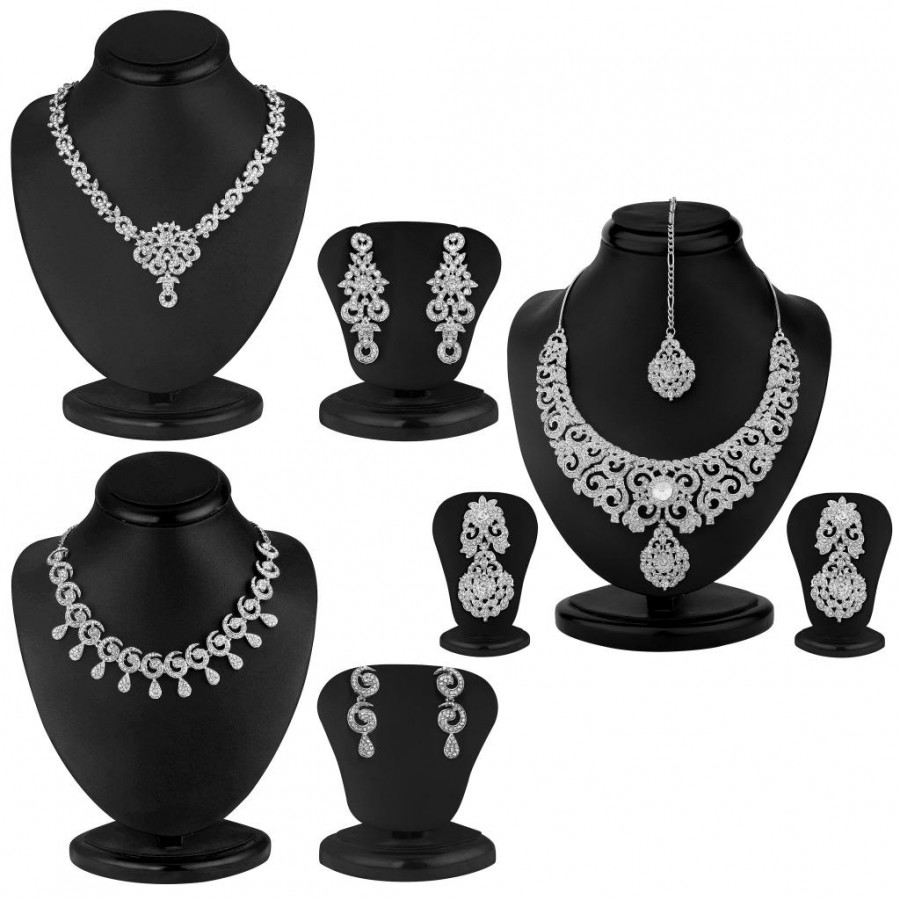 Buy Sukkhi Fascinating 3 Piece Necklace Set Combo Online