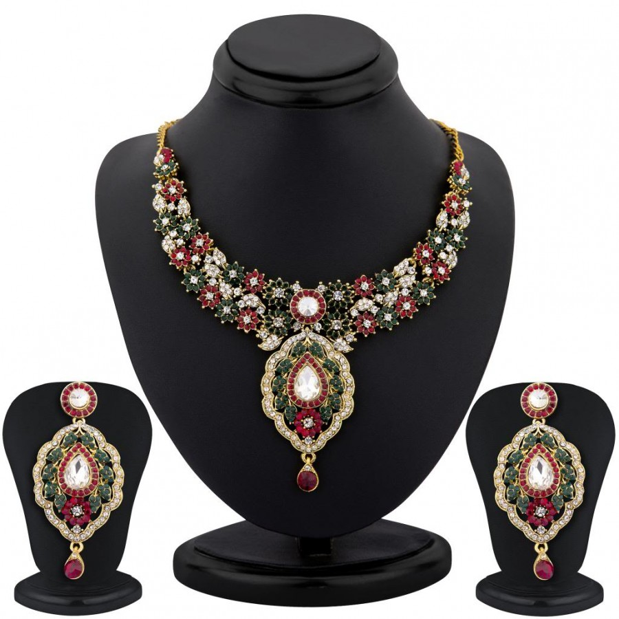 Buy Sukkhi color stone necklace set - 1156VN3100 Online