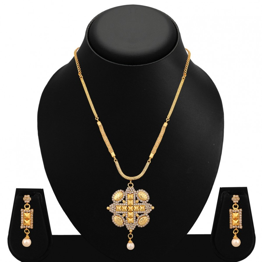 Buy Sukkhi Beguiling Gold Plated AD Necklace Set For Women Online