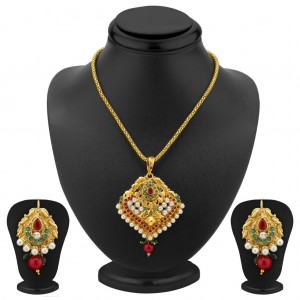Buy Sukkhi Angelic Gold Plated Pendant Set Online