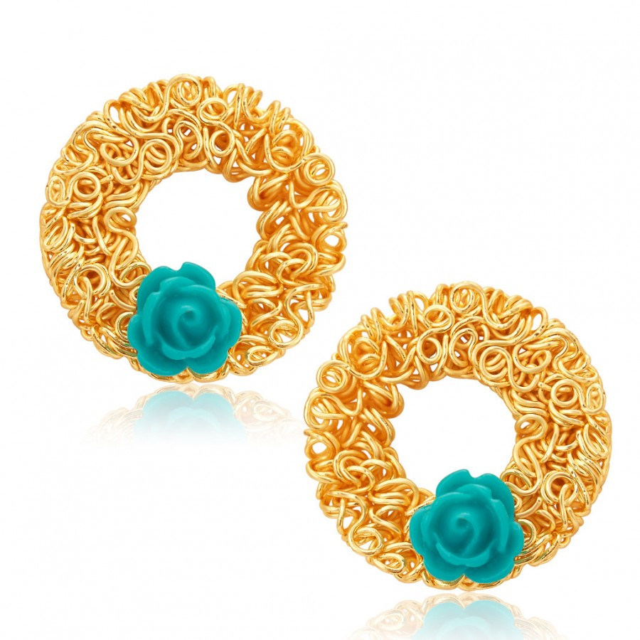 Buy Sukkhi Marvellous Gold Plated Stud Earring For Women Online
