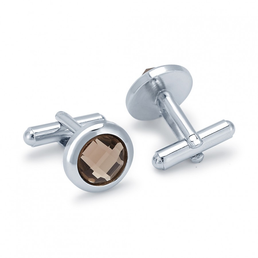 Buy Sukkhi Charming Rhodium Plated AD Cufflink Online