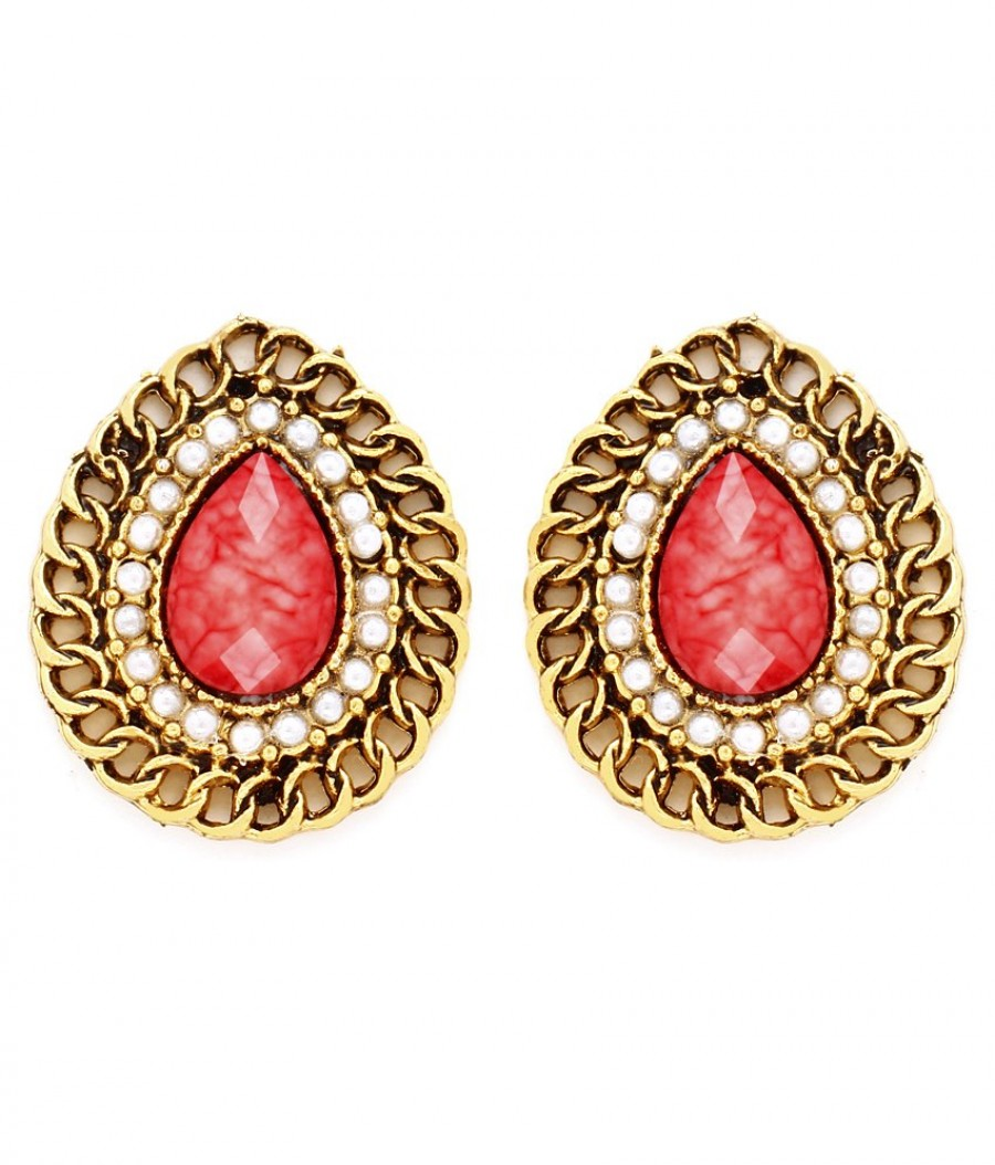 Buy Sukkhi Intricately Gold Plated Pearl Earring For Women Online