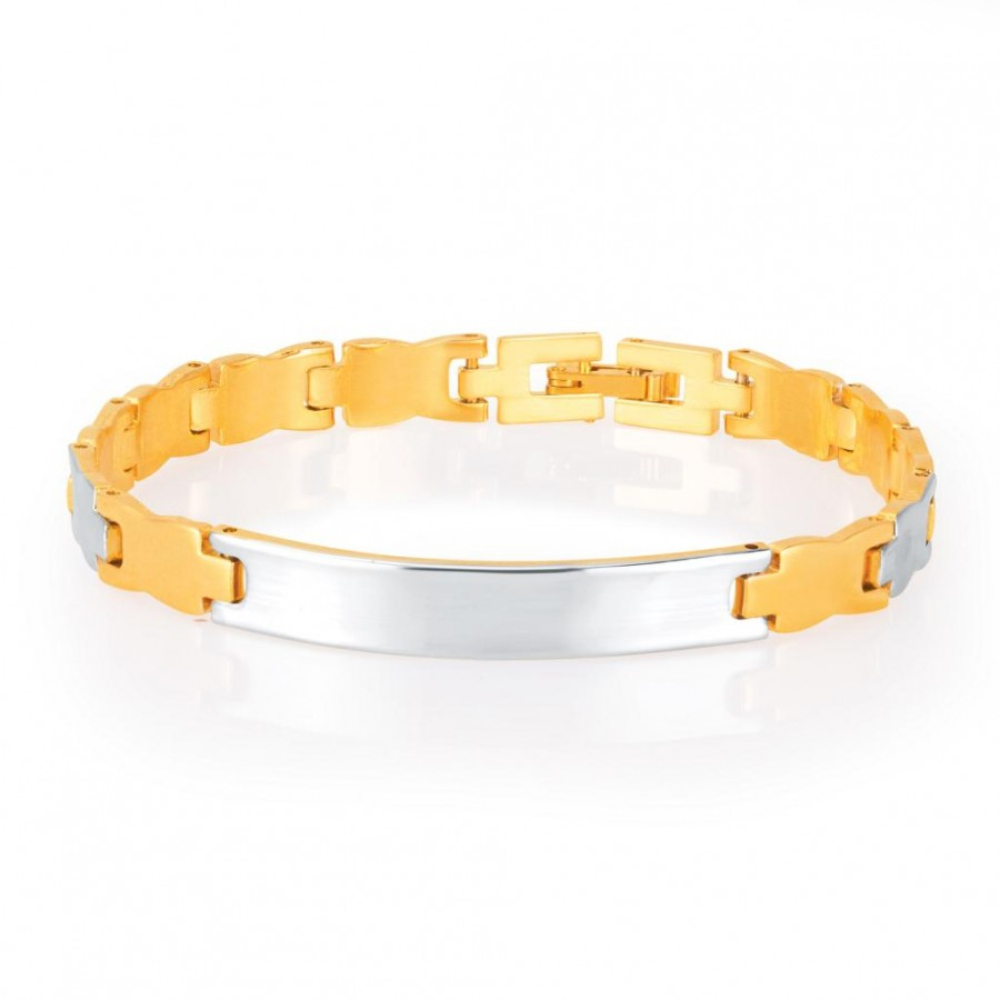 Buy Sukkhi Alluring Gold and Rhodium Plated Bracelet For Men Online