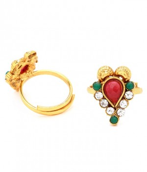 Buy Sukkhi Classic Gold Plated Australian Diamond Stone Studded Toering Online