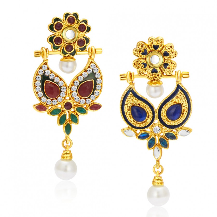 Buy Sukkhi Resplendent Gold Plated Reversible Earring For Women Online