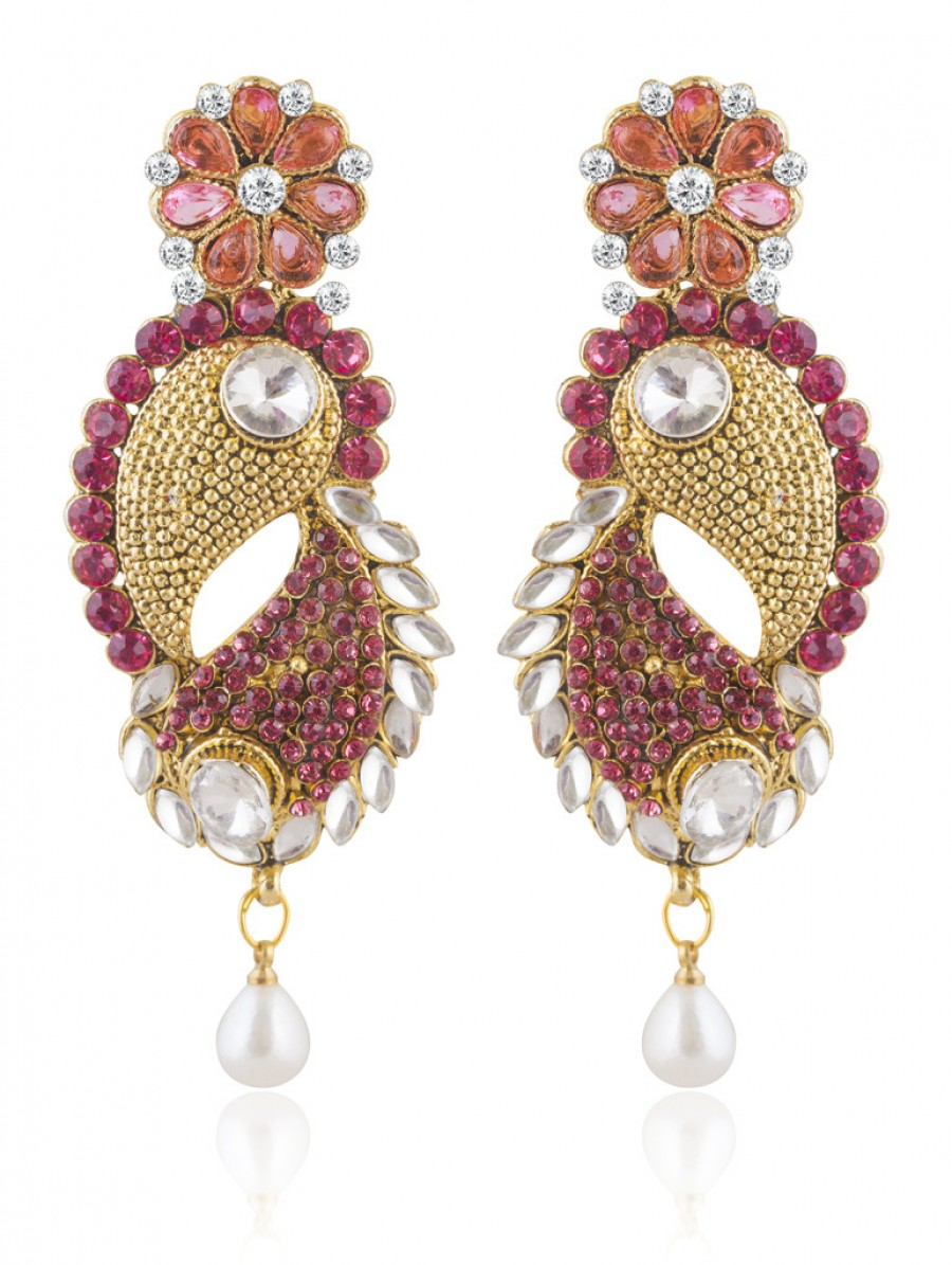 Buy Sukkhi Astonish Gold Plated AD and Kundan Earring For Women Online