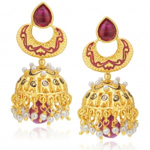 Buy Sukkhi Fascinating Gold Plated Pearl Jhumki For Women Online