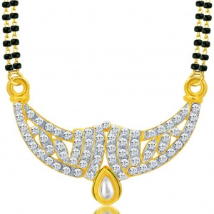 Buy Sukkhi Briliant Gold and Rhodium Plated AD Kundan Mangalsutra Pendant for Women Online
