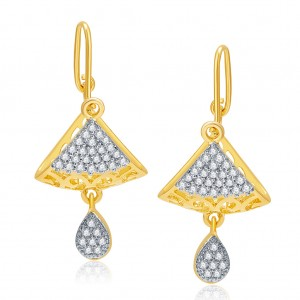 Buy Pissara Exotic Gold And Rhodium Plated CZ Earrings For Women Online
