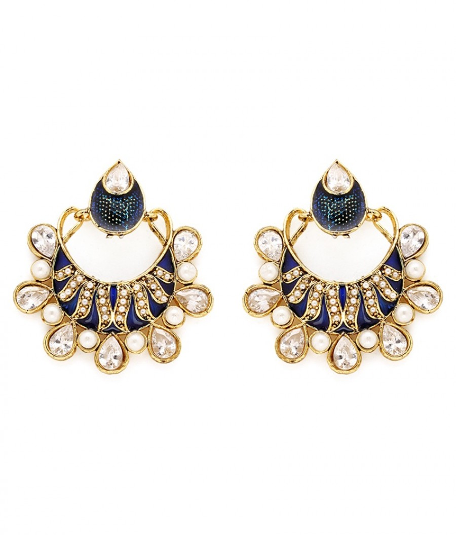 Buy Sukkhi Traditionally Gold Plated AD Earring For Women Online