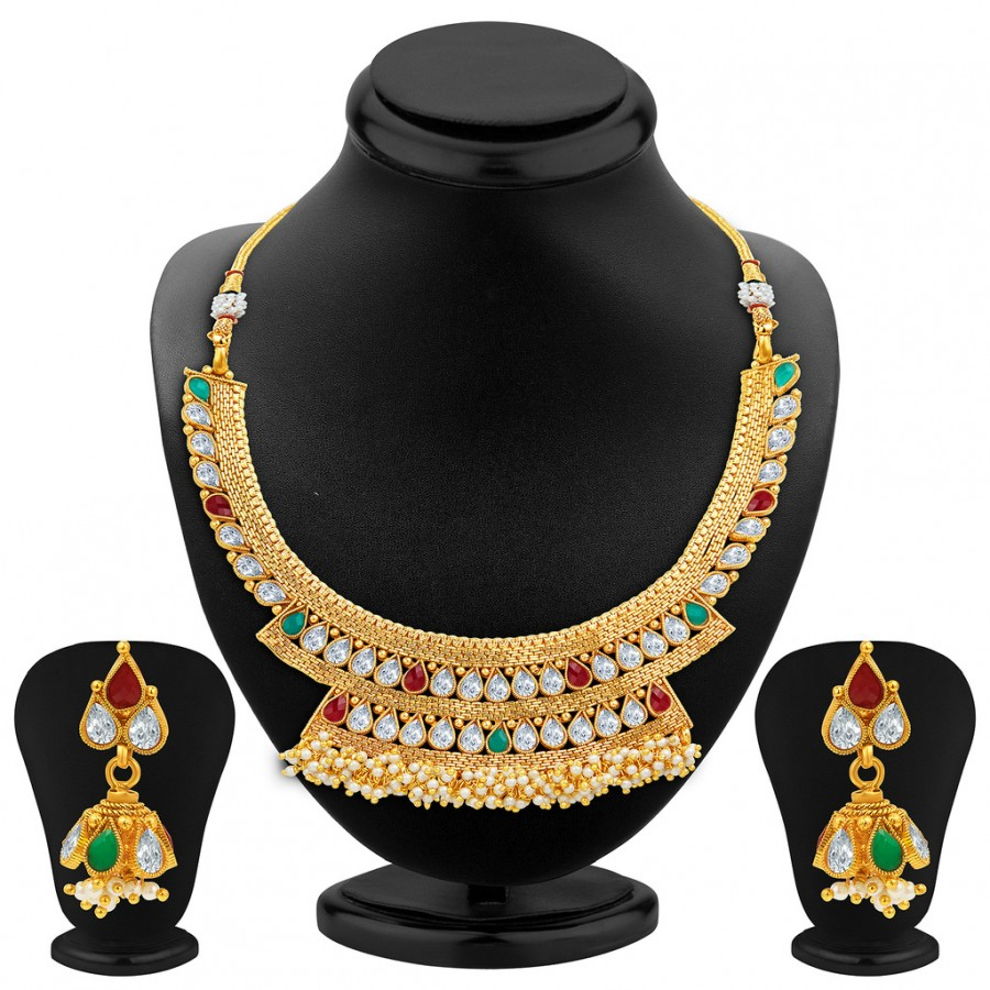 Buy Sukkhi Enchanting Gold Plated Necklace Set Online