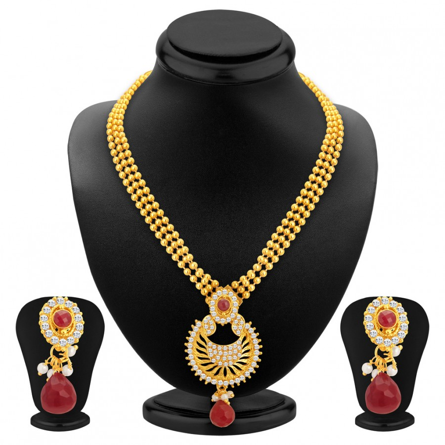Buy Sukkhi Creative Gold Plated Necklace Set For Women Online