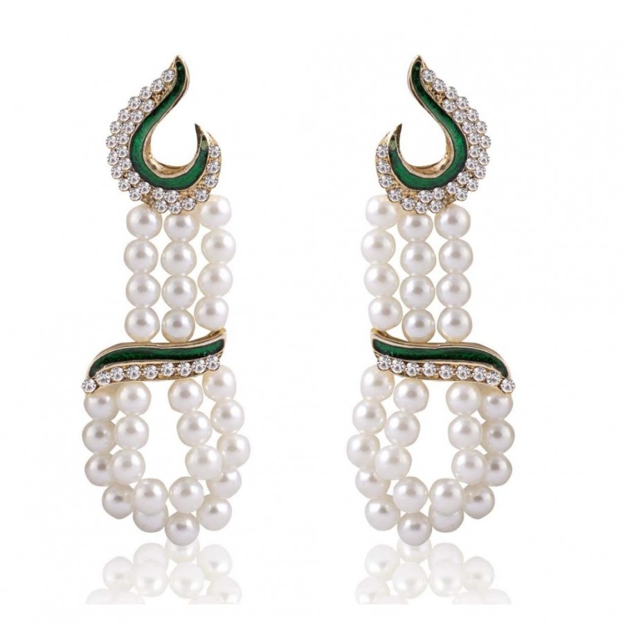 Buy Sukkhi Resplendent Gold Plated Pearl Earring For Women Online