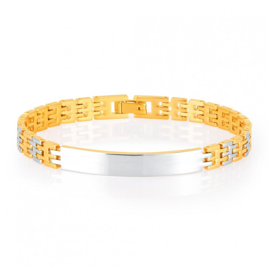 Buy Sukkhi Fabulous Gold and Rhodium Plated Bracelet For Men Online