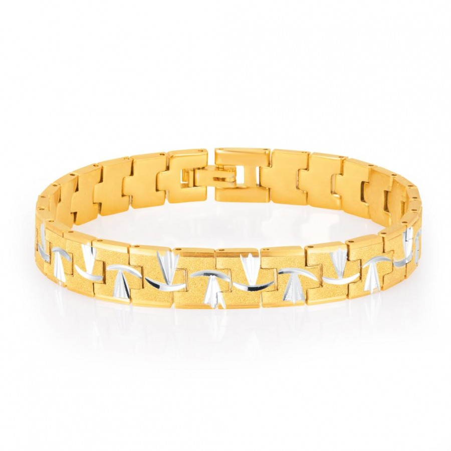 Buy Sukkhi Elegant Gold and Rhodium Plated Bracelet For Men Online