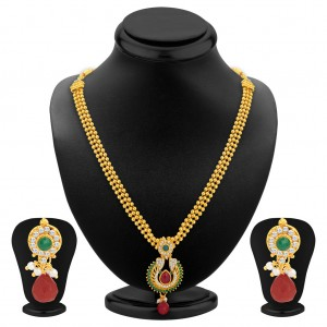 Buy Sukkhi Glittery Gold Plated Necklace Set For Women Online