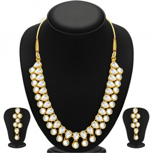 Buy Sukkhi Creative Gold Plated Kundan Necklace Set For Women Online