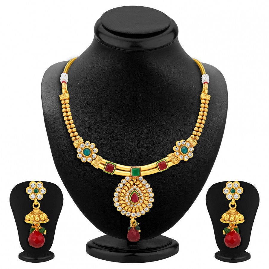 Buy Sukkhi Marvellous Gold Plated Necklace Set Online