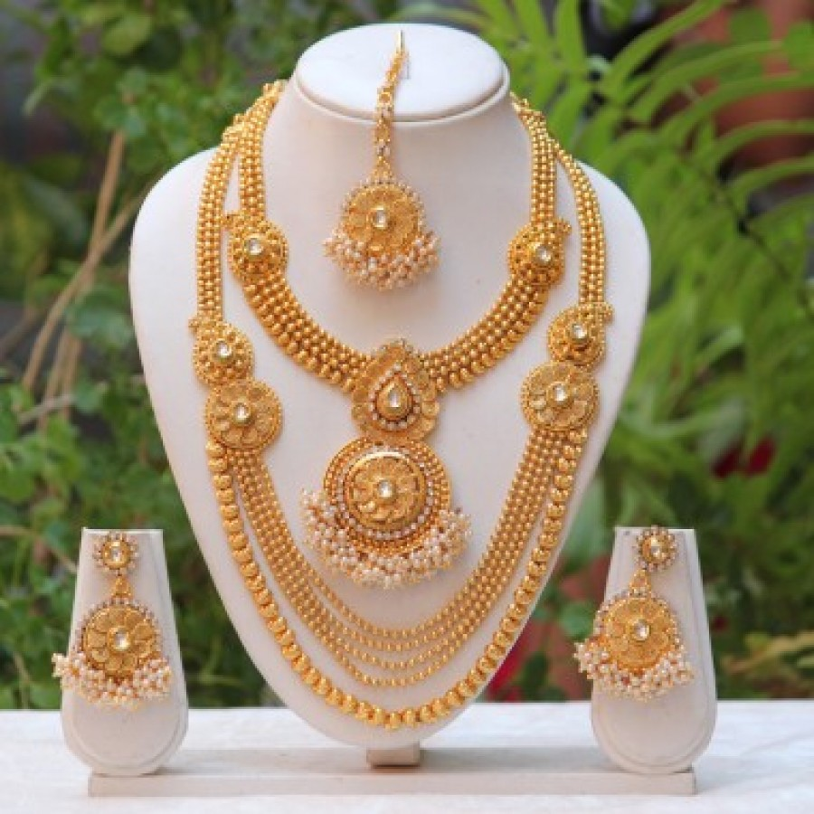 necklace prom accessories rhinestone for dubai wedding jewelry multicolour fashion jewellery plated gold bridal product earring party set