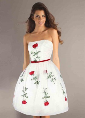 Buy Fabboom Designer White & Red Colour Semi Stitched Western Wear Online