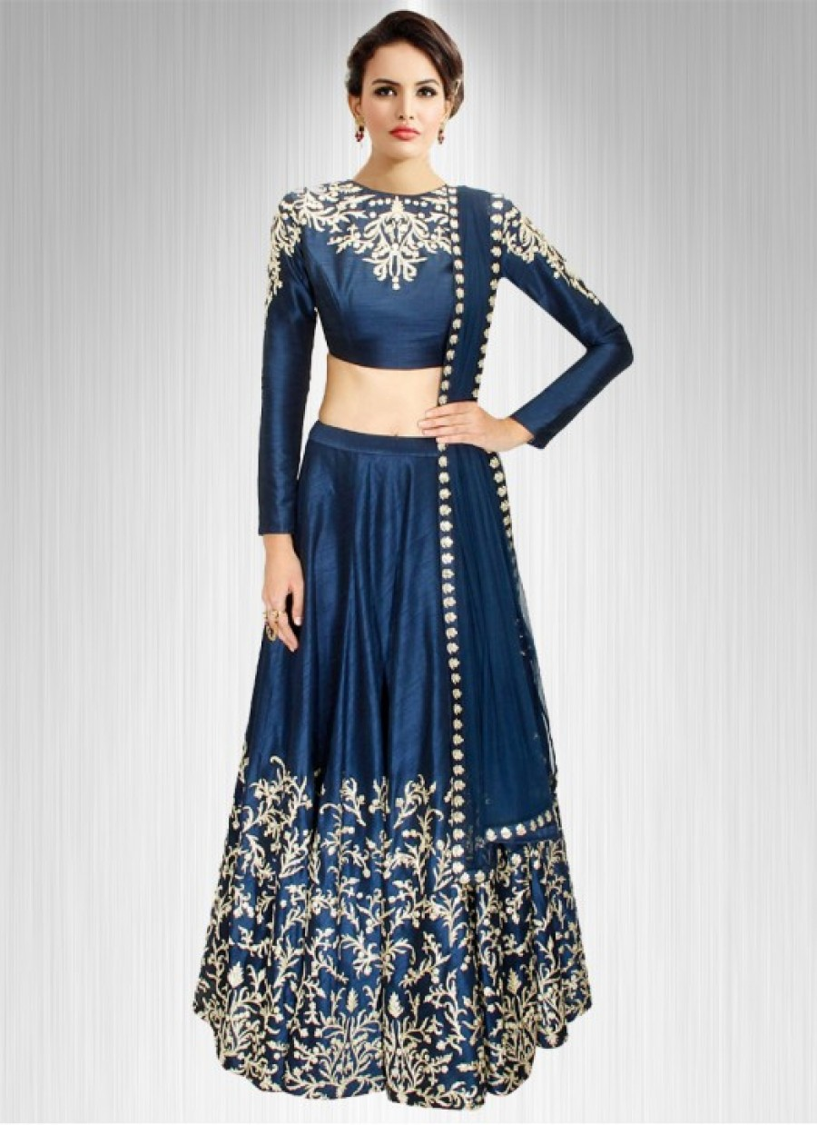 Buy Fabboom Latest Nevy Blue Beautiful Designer Lehenga Choli Online