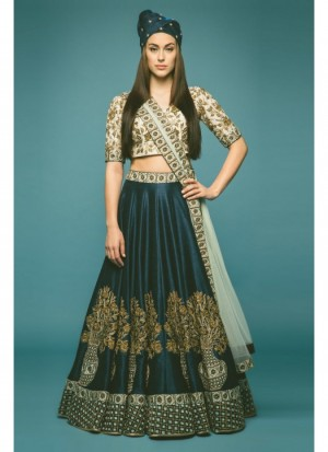 Buy Fabboom Latest Blue Beautiful Designer Lahenga Choli Online