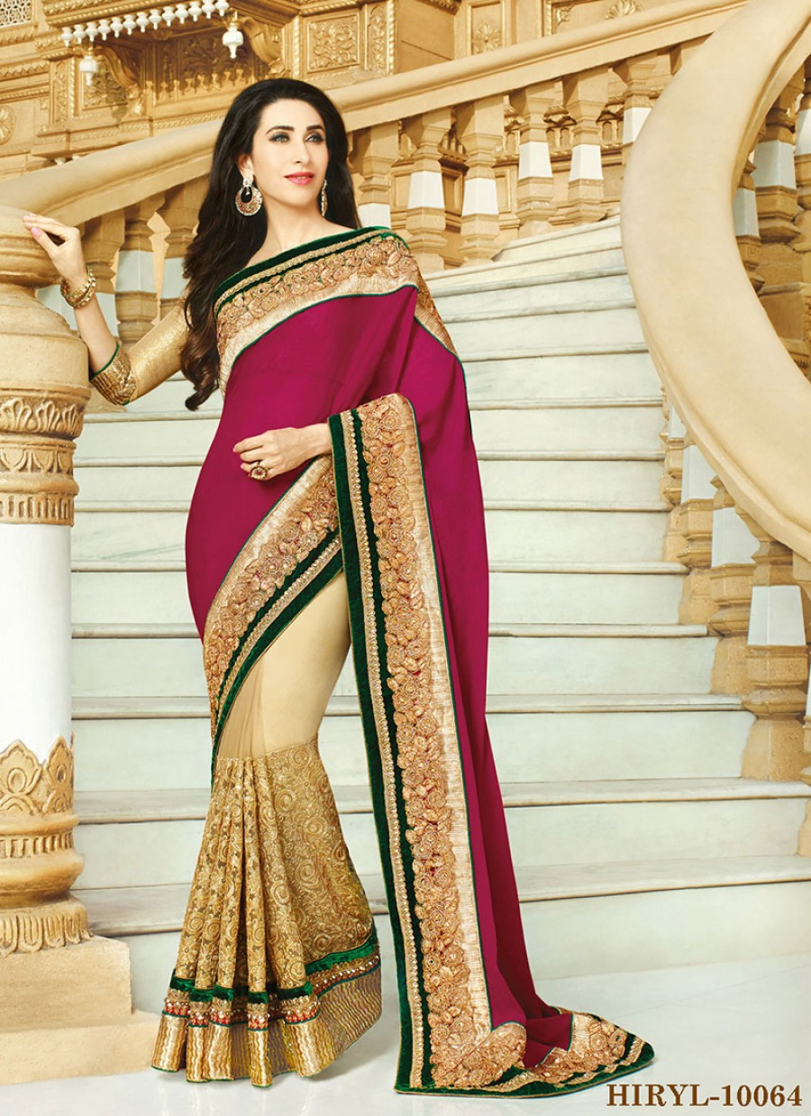 1bc9371cdca7a Buy Fabboom Red And Cream Karishma Heavy Saree Buy Online Online