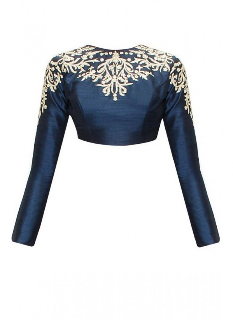 Buy Fabboom Latest Nevy Blue Beautiful Designer Blouse Online