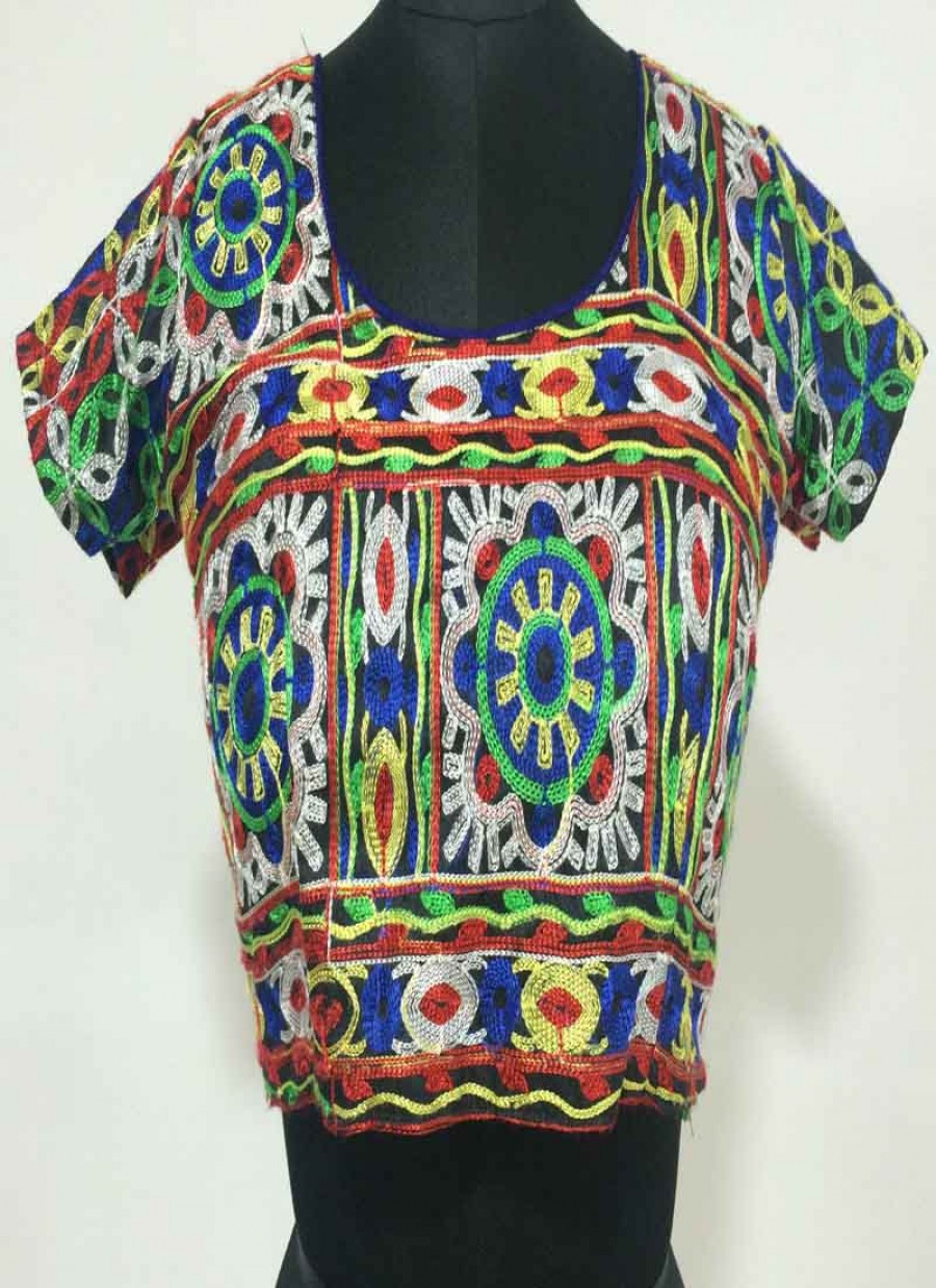 f4052d4b1e099 Buy Fabboom New Latest Multi Colour Floral Embroidered Designer Blouse  Online