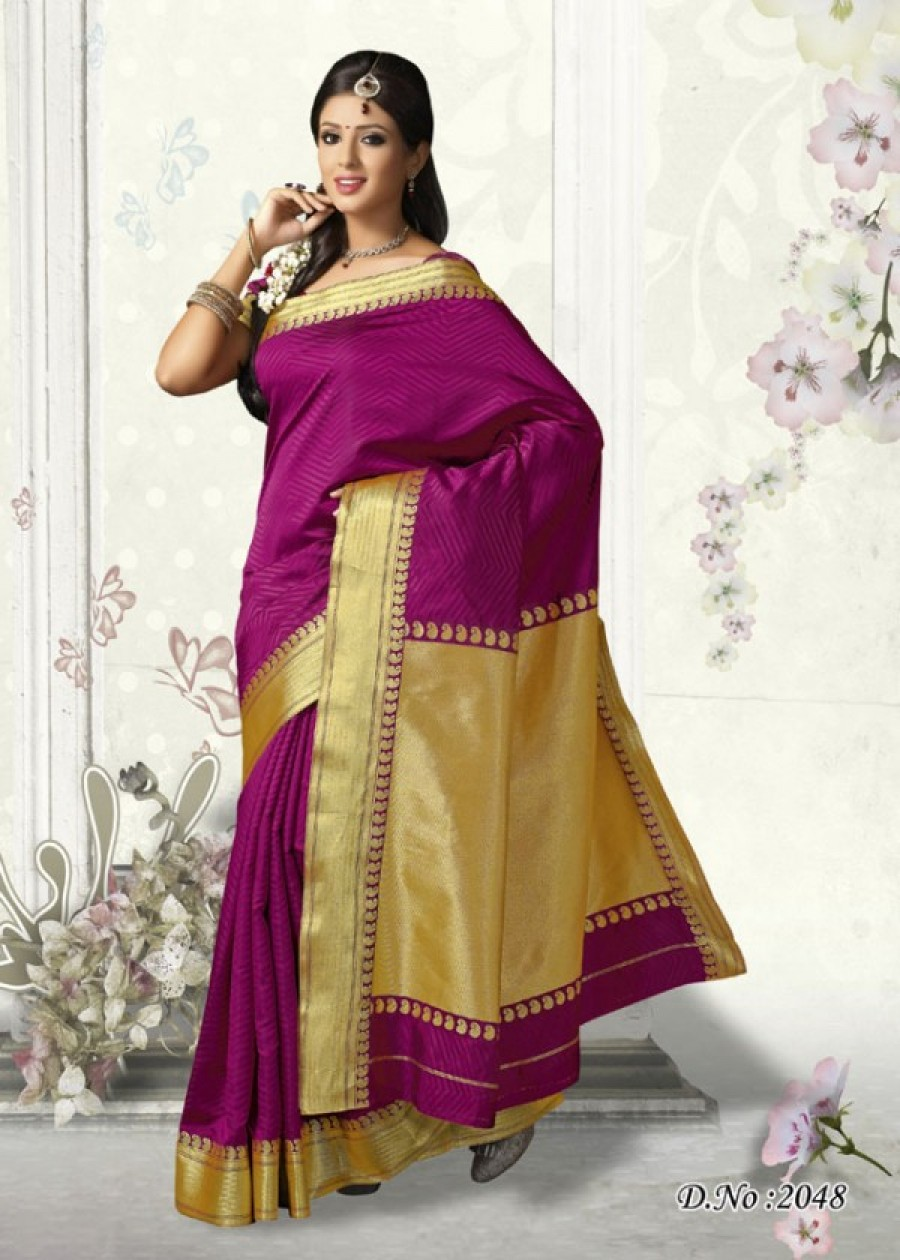 Buy Traditional Pink Art Silk Designer Saree   Online