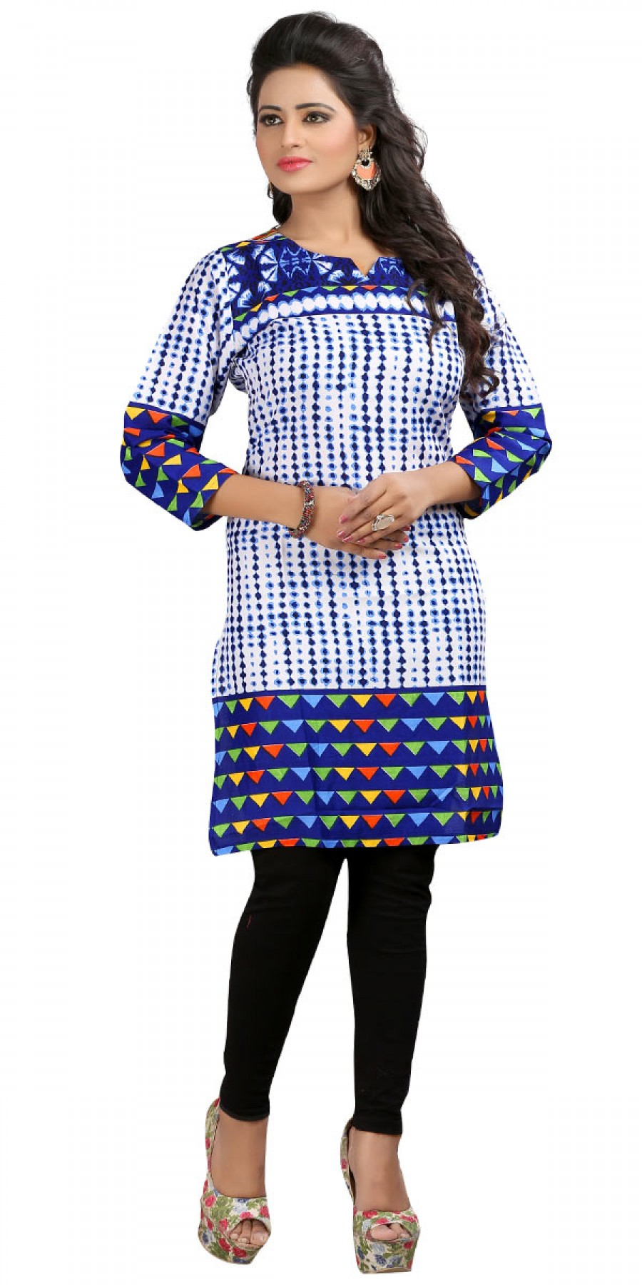 Buy Solid White Cotton Casual Kurti. Online