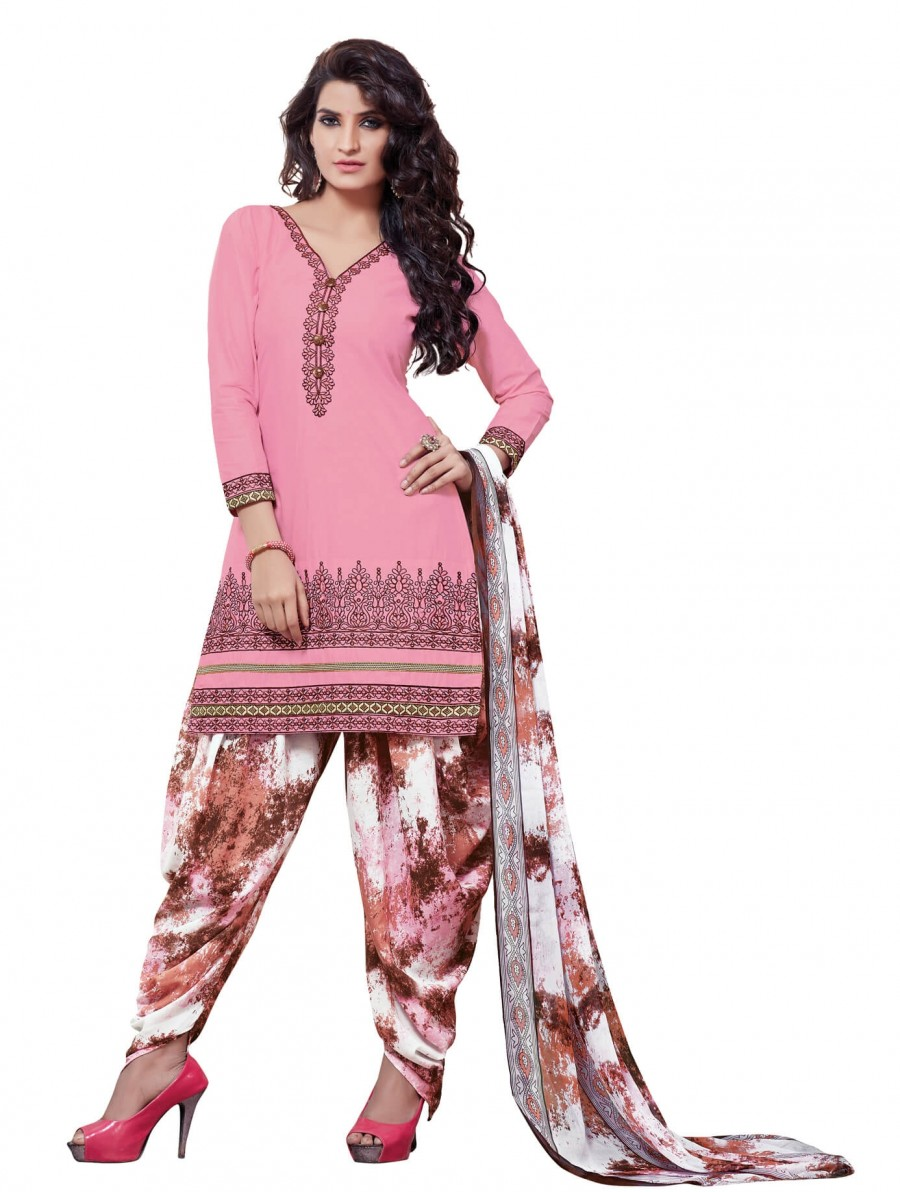 Buy Stylish Beautiful Light Pink Designer Patiyala Suit Online