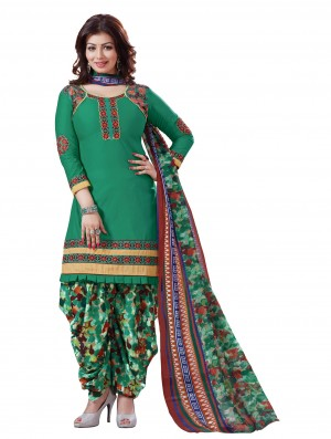 Buy Stylish Beautiful Green Designer Patiyala Suit Online