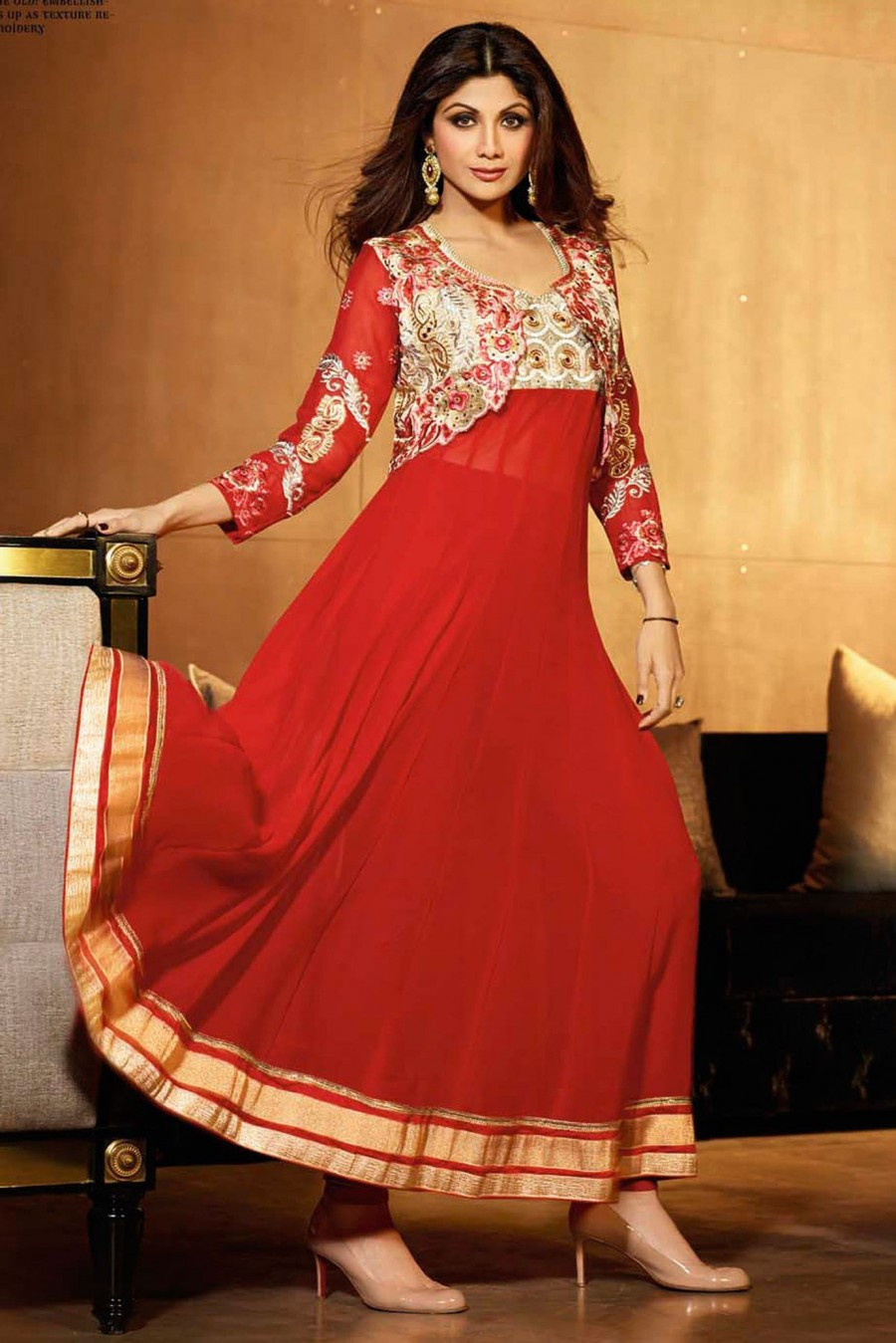 Buy Sensational Red Colored Embroidered Anarkali Suit with Dupatta  Online