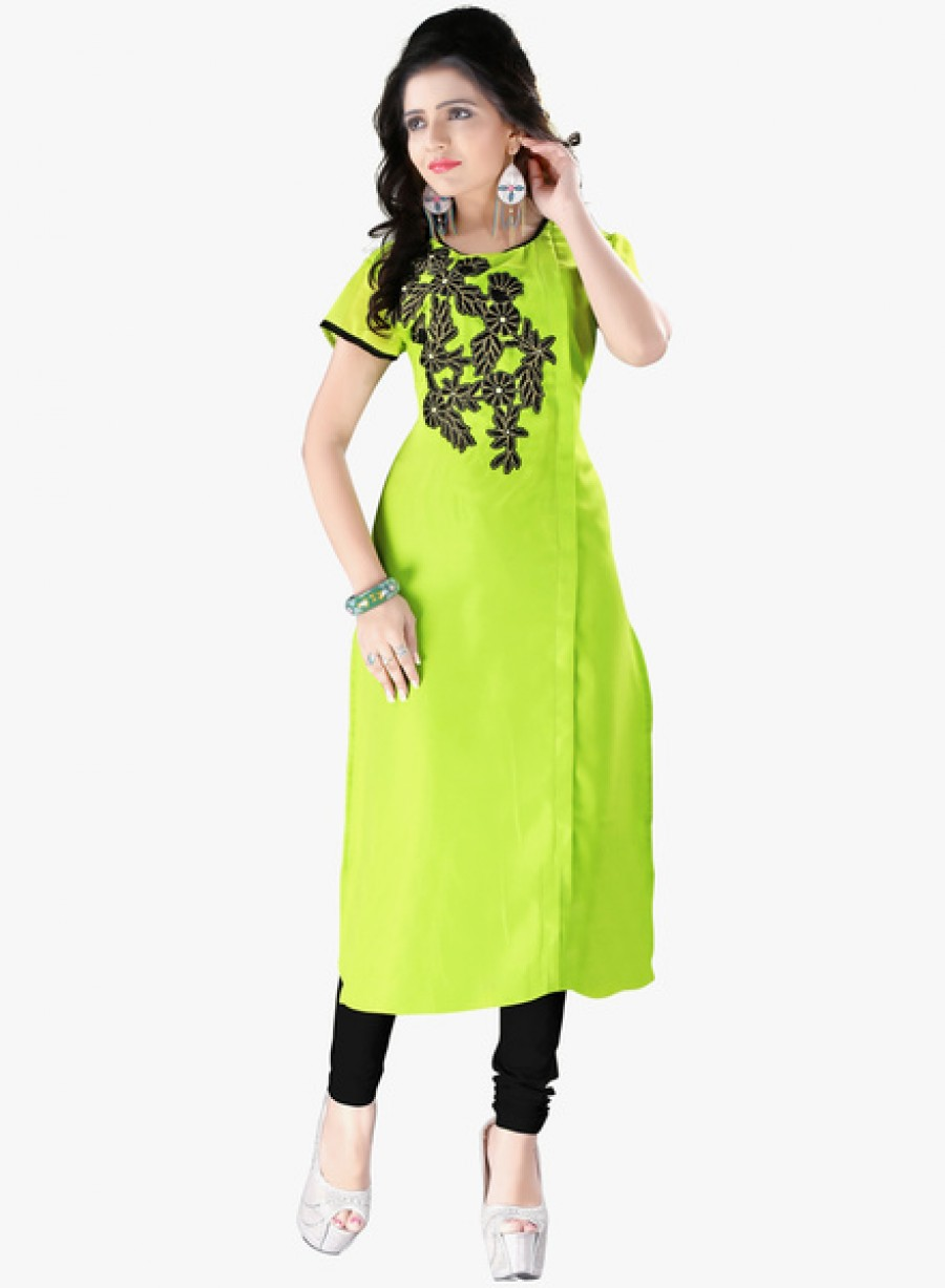 Buy Occeanus Green Embroidered Kurta Online