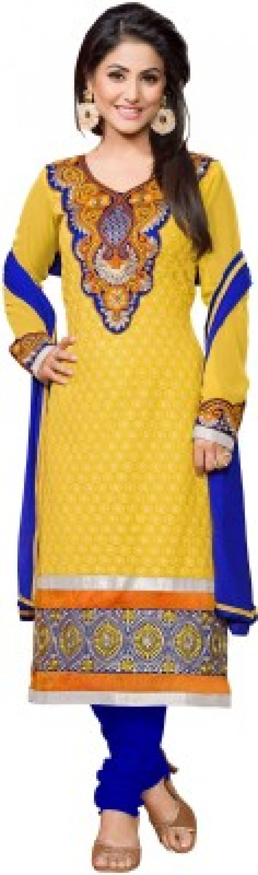 Buy Zombom Embroidered Kurta & Churidar Online