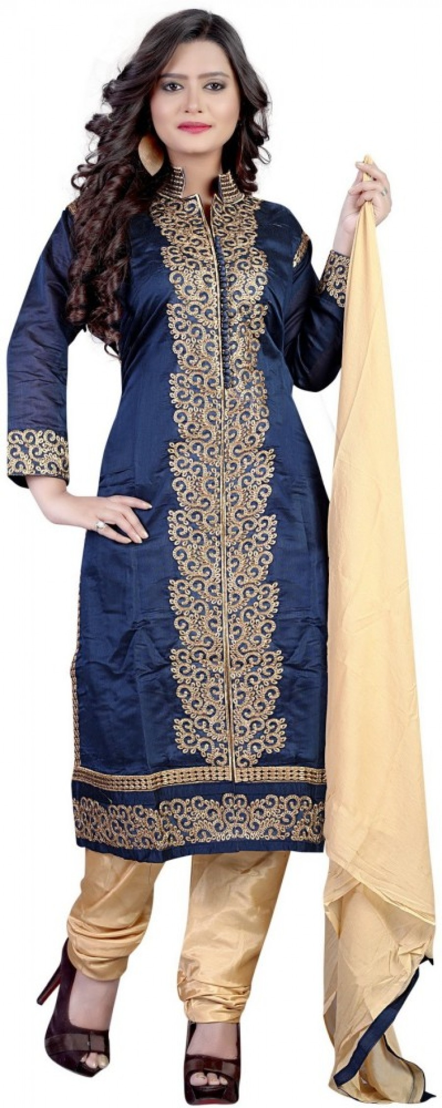 Buy zhenith creation Embroidered Kurta & Churidar Online