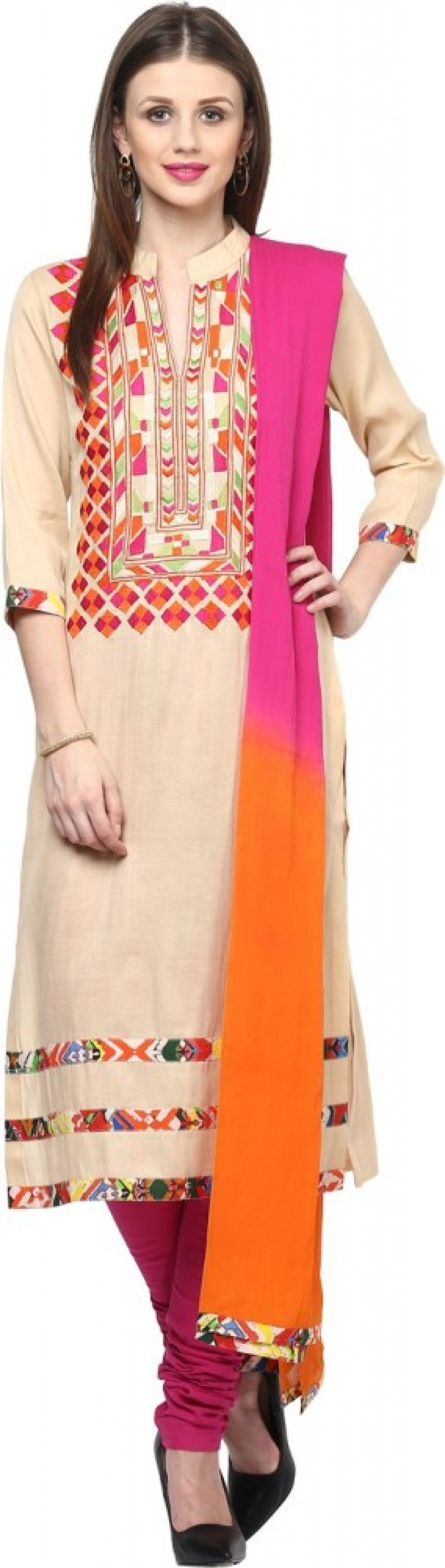 Buy Shakumbhari Embroidered Kurta & Churidar Online
