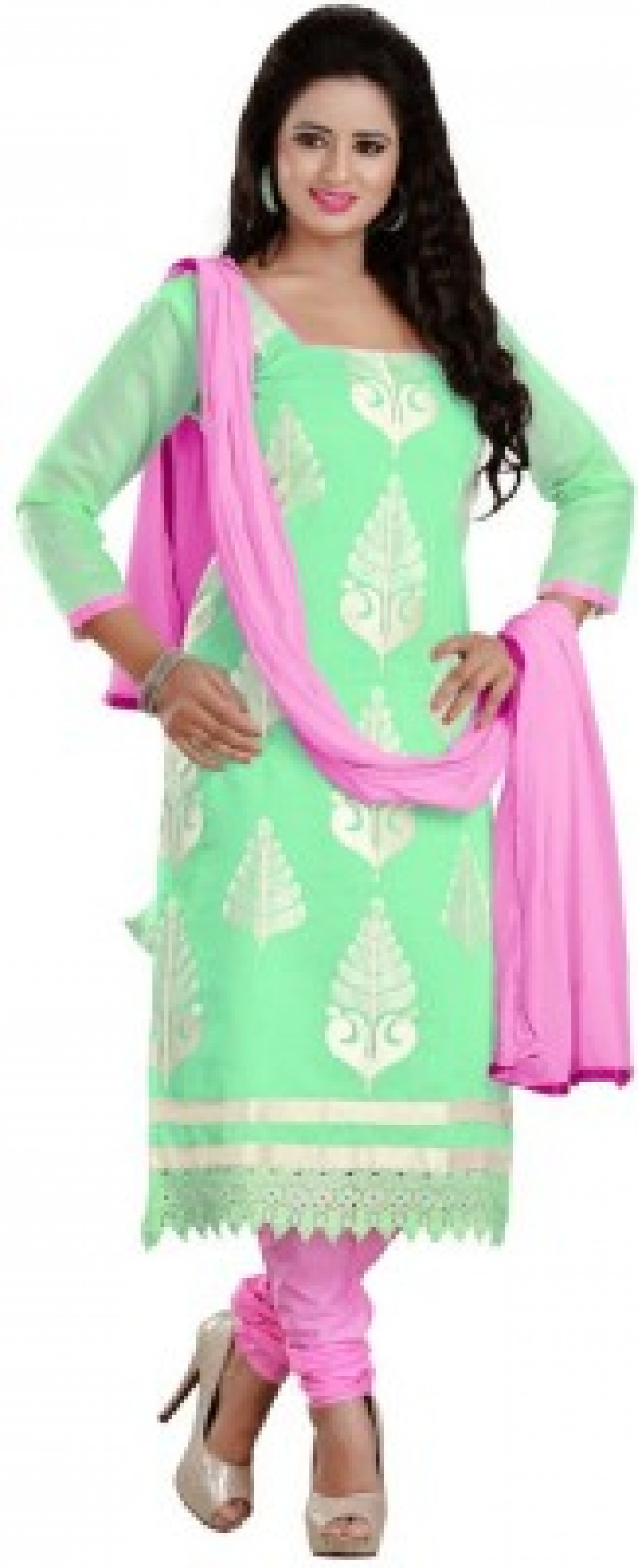 Buy Shaili Cotton Embroidered Salwar Suit Dupatta Material Online