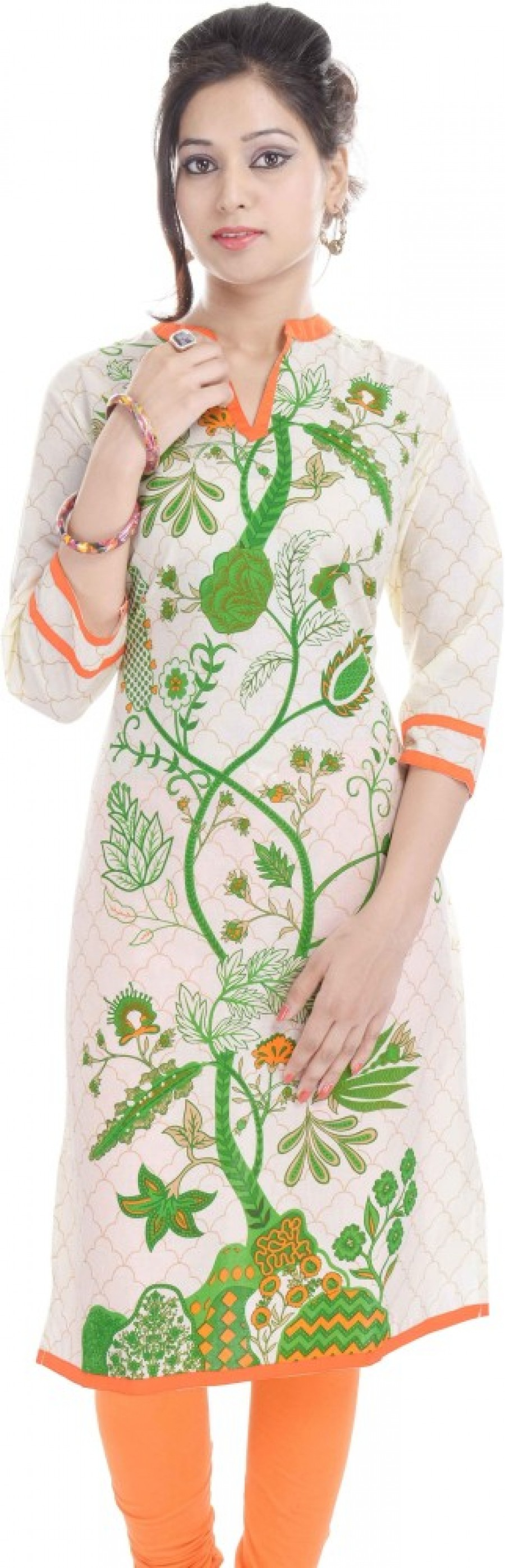 Buy Artisan Creation Casual Floral Print Women Kurti Online