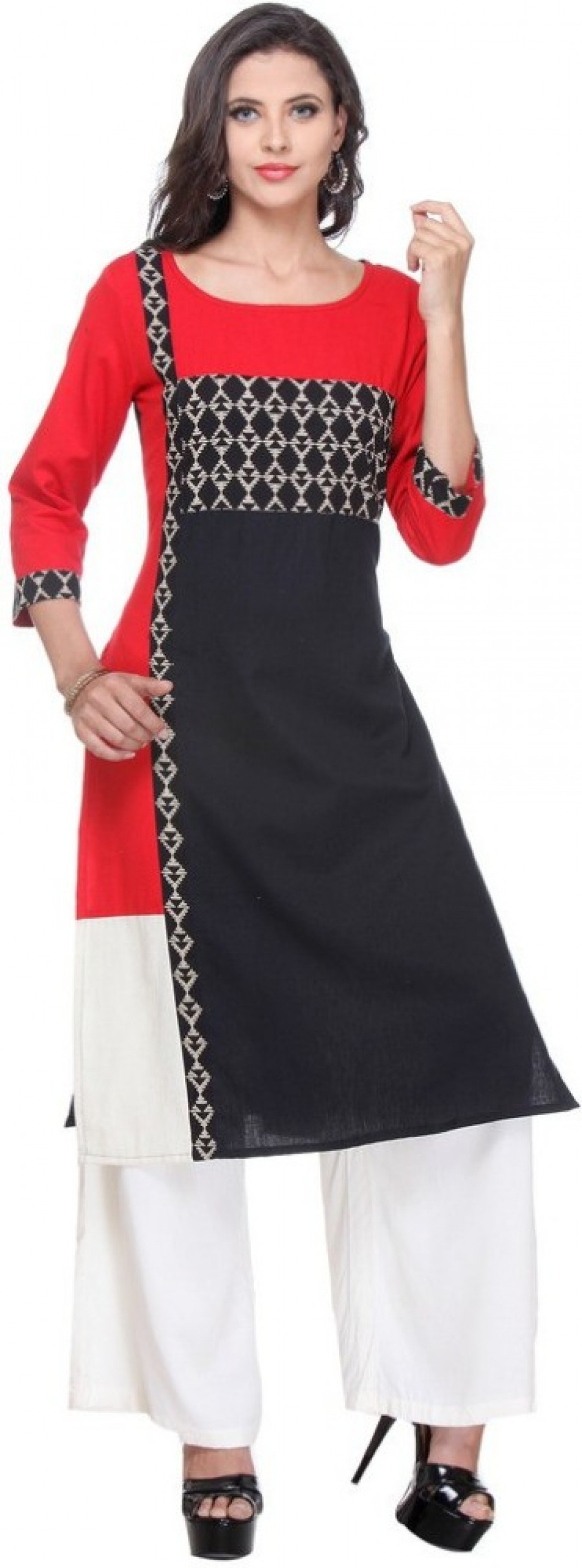 Buy Varanga Casual Self Design Women Kurti Online