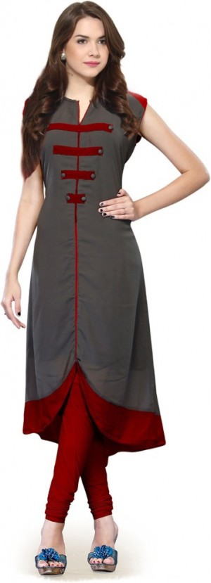Buy vaibhav textiles Casual Self Design Women Kurti Online