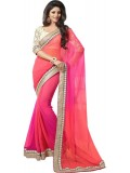 ST saree Self Design Bollywood Pure Georgette Sari