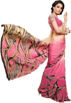 Buy Design Willa Printed Bollywood Crepe Sari Online
