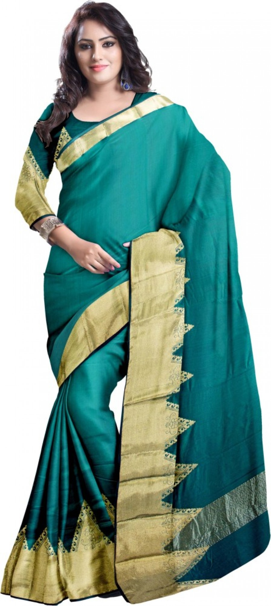 Buy Komal Sarees Woven, Self Design Chanderi Chanderi, Art Silk Sari Online