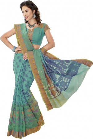 Buy Aanya Printed, Self Design Chanderi Chanderi Sari Online